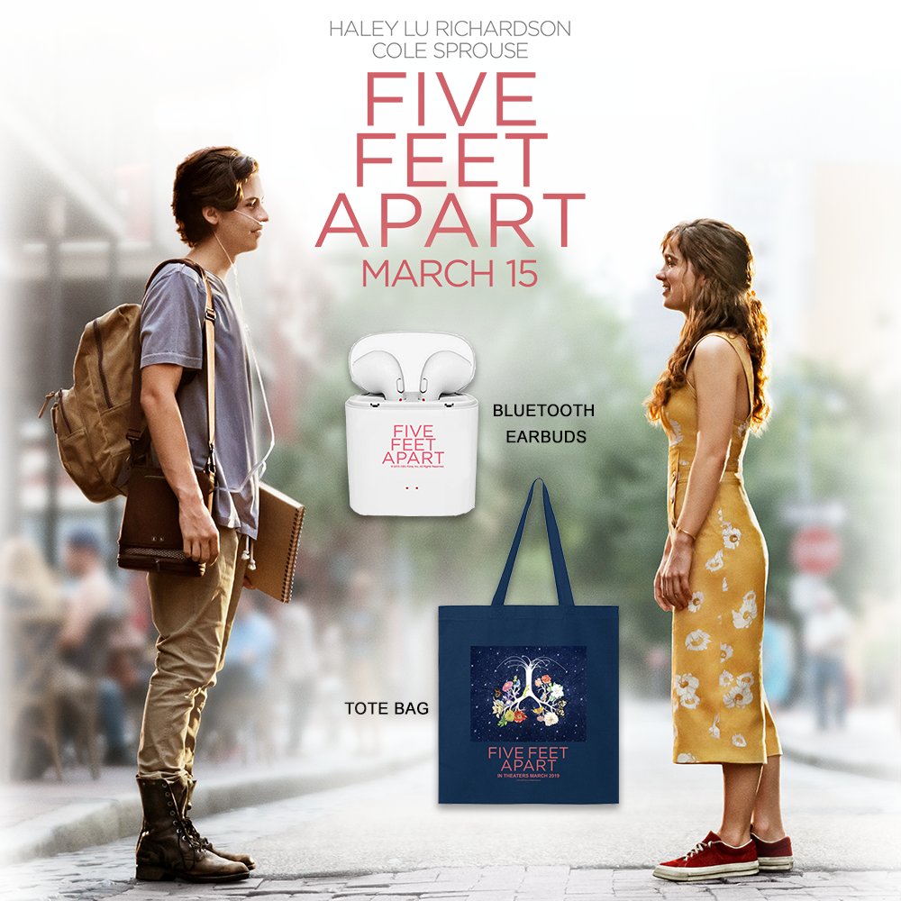 Win A 'Five Feet Apart' Prize Pack