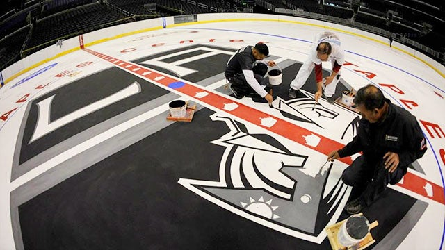 How The La Kings Ice Is Made At Staples Center L A Live
