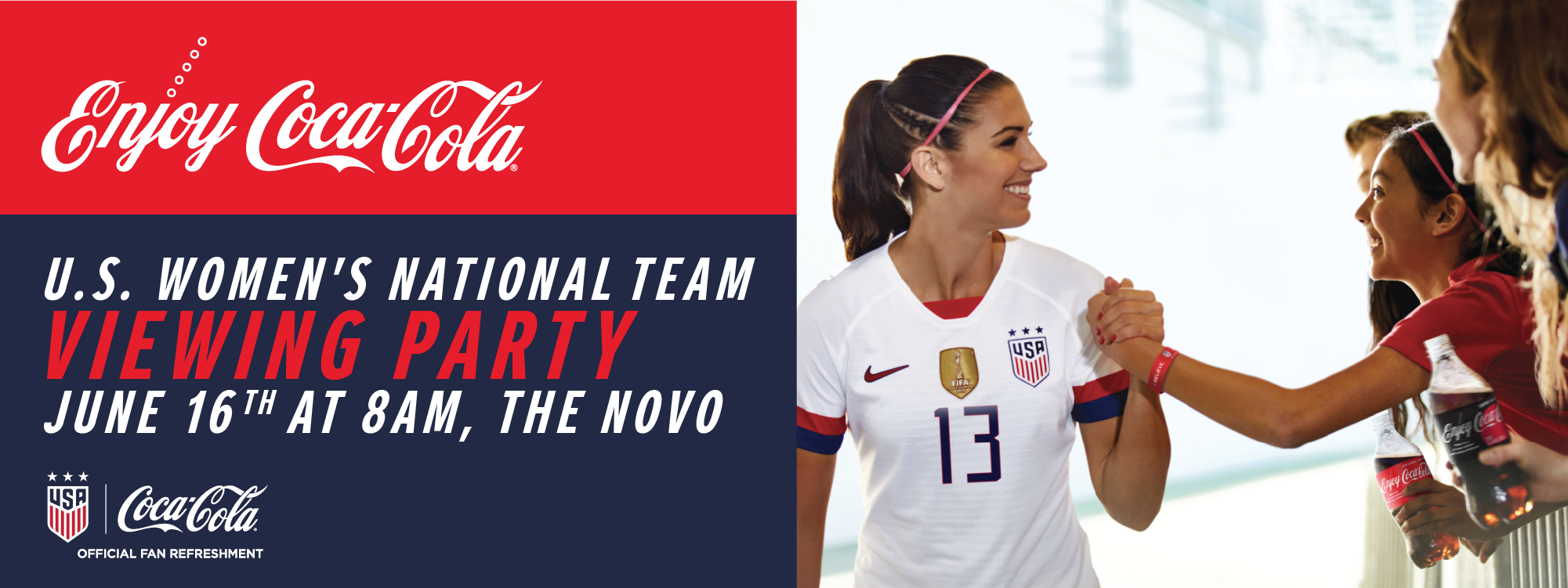 Coca-Cola U.S. Women's National Team Viewing Party | L.A. LIVE